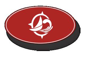 Services Sailboat Icon-Red - Thompson's Marina